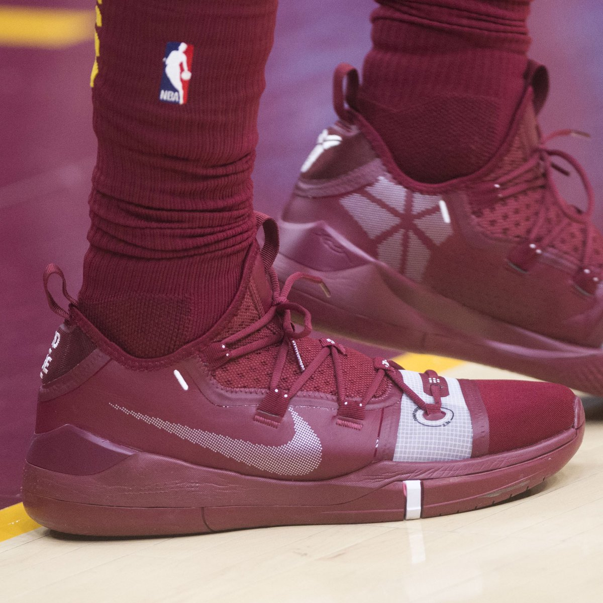 best sneakers 50e21 d9ed0 solewatch jordanclarksons wearing a team colorway of the nike kobe ad  against the hawks kenblazephoto