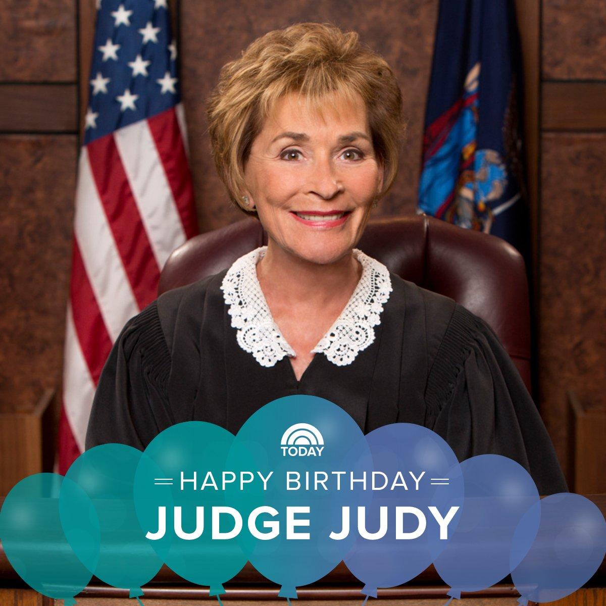 Happy birthday, @JudgeJudy!