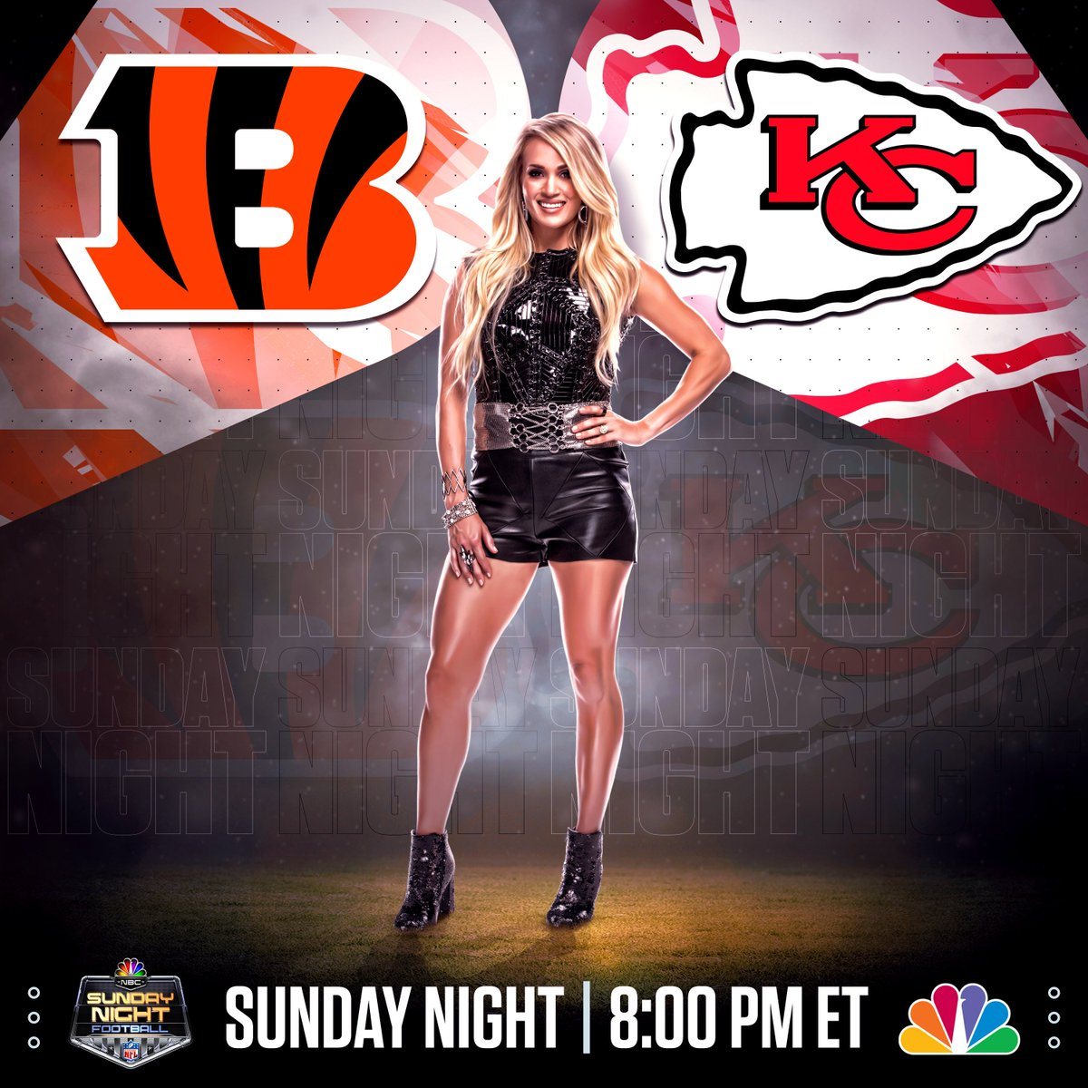 .@SNFonNBC starts at 8:00p ET! https://t.co/I8scPNREcB #CINvsKC -TeamCU