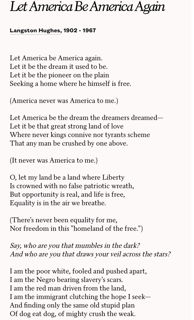 when was let america be america again written