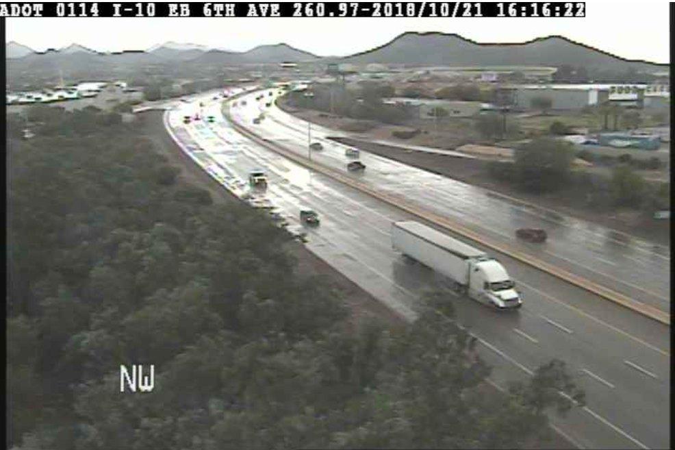 I-10 in Tucson: It's raining in Tucson. #aztraffic #tucson