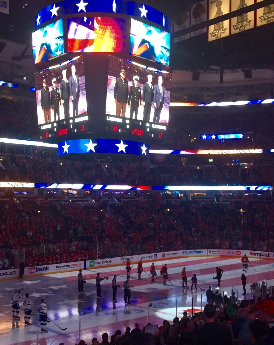 Blackhawks have the best national anthem in sports. #USA