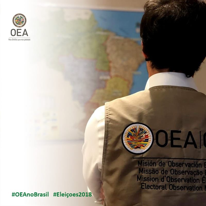 Missão de Observação Eleitoral da @OEA_oficial se instala no Brasil para o 2o turno presidencial.  #Eleicoes2018   👇🏼 https://t.co/j3WCYU2Ffa