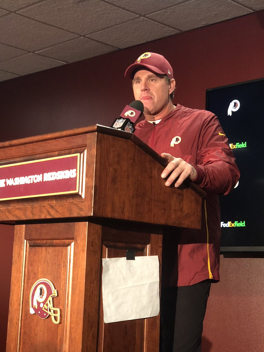 """""""OH IT'S GREAT TO BEAT DALLAS!"""" - #Redskins Head Coach Jay Gruden @wusa9 @WUSA9sports"""