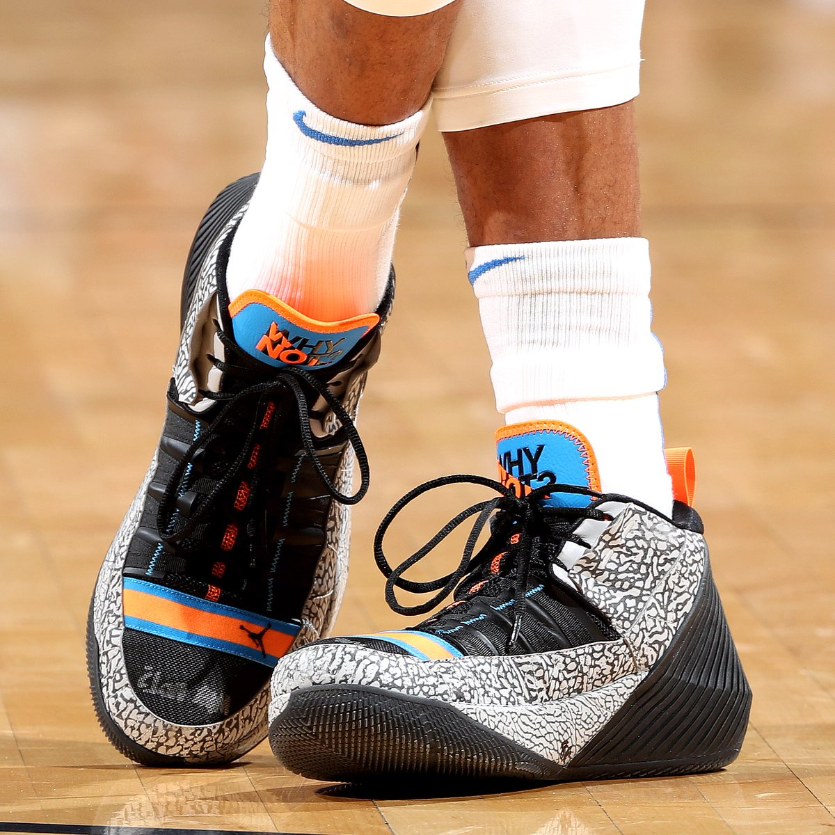 d003f22fb0b459 solewatch russwest44 returns to the okc lineup in a cement jordan why not  zer01 pe joe