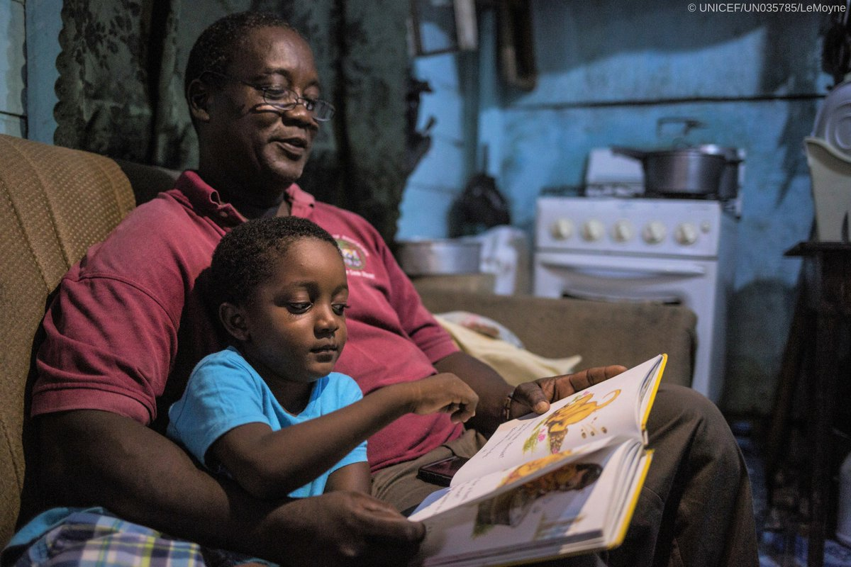 """test Twitter Media - Four-year-old Orin enjoys a bedtime story with his father Marshall in #Belize.   """"We must prepare children for school long before they arrive in the classroom, only then are they able to benefit fully from the teachings,"""" he tells us.    #EarlyMomentsMatter https://t.co/G2afKgZHIG"""