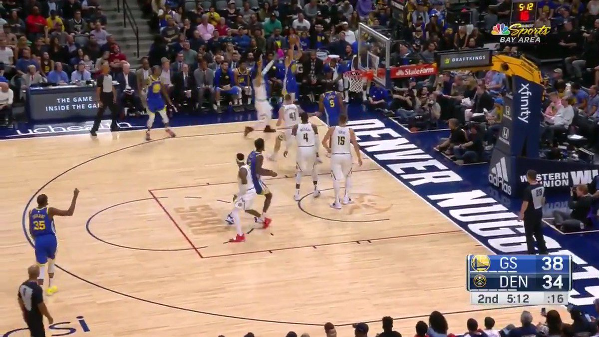 Count it! 1, 2, 3, 4 point play for @StephenCurry30 📺 @NBCSAuthentic