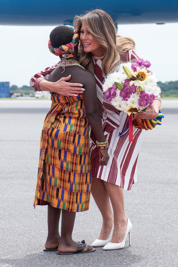 .Not only is our @FLOTUS beautiful and classy but she is also caring and compassionate about our youth worldwide #BeBest #FlotusFans #FriendsofFlotus