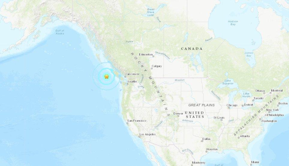 ÚLTIMA HORA  Sismo de magnitud 6,6 sacude la provincia de Columbia Británica en Canadá https://t.co/gLXBDCaQvd https://t.co/opcJz3fnak