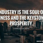 Image for the Tweet beginning: Industry is the soul of