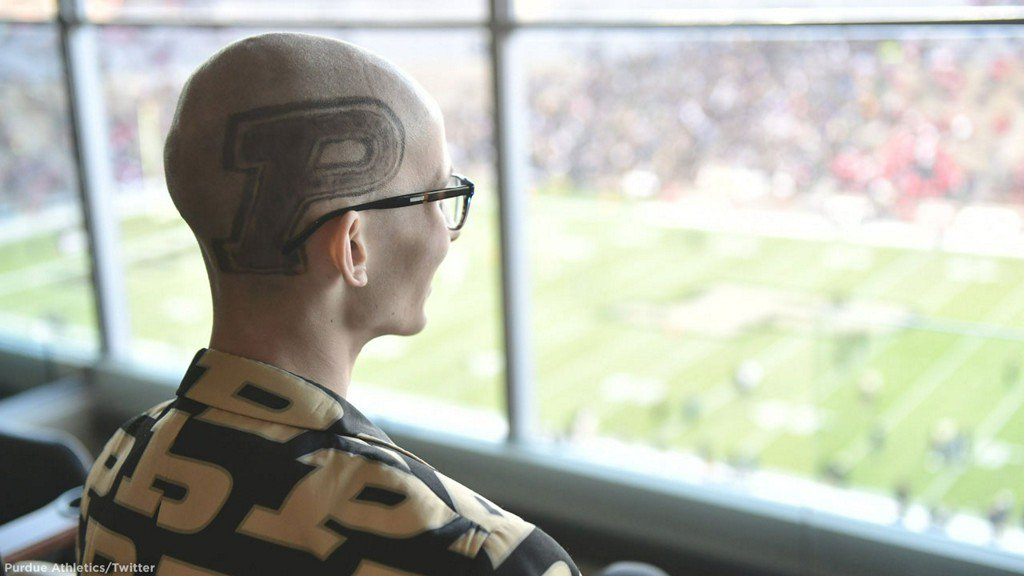 Purdue student with terminal cancer gets to watch upset he predicted https://t.co/n5LyVgDThe