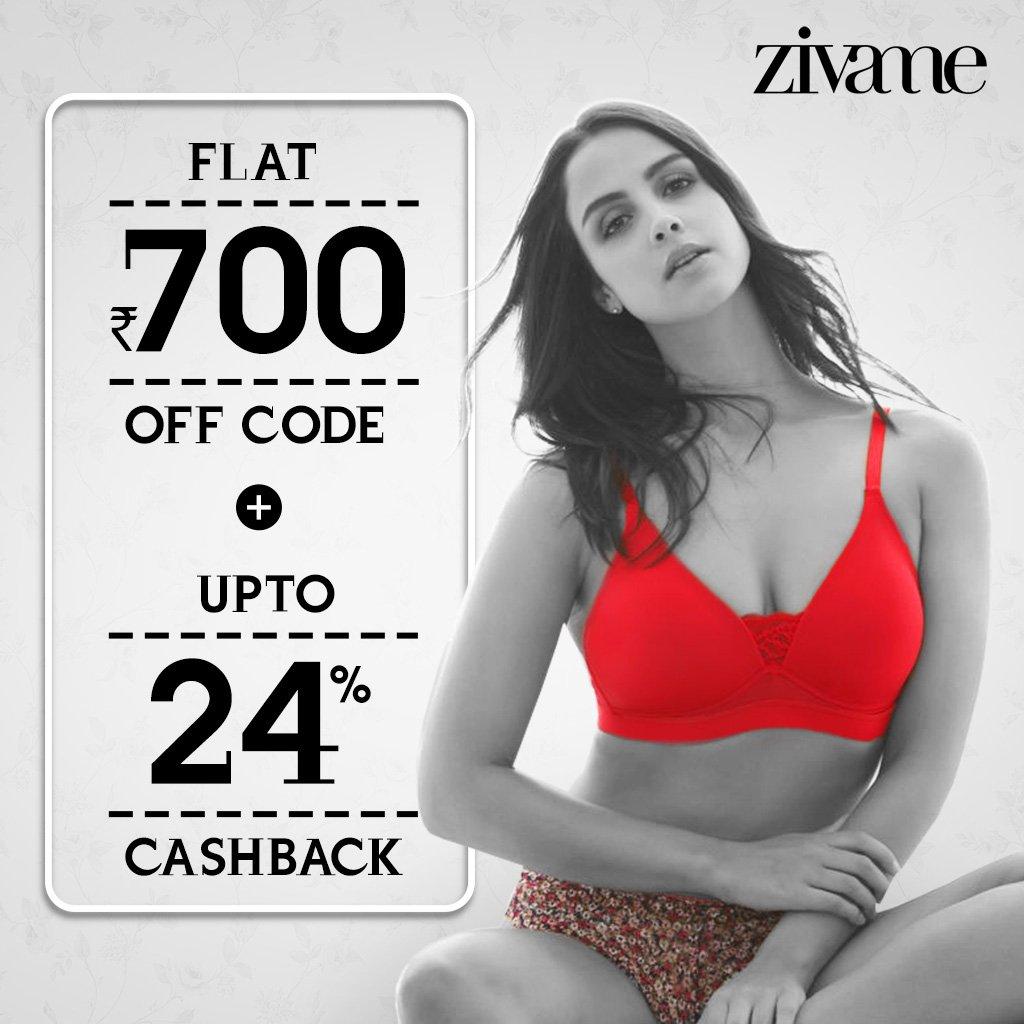 573f3420ec0d #Zivami is offering Flat Rs 700 Off Code exclusively via CashKaro:  https://cashkaro.com/stores/zivame with upto 24% Cashback on top.