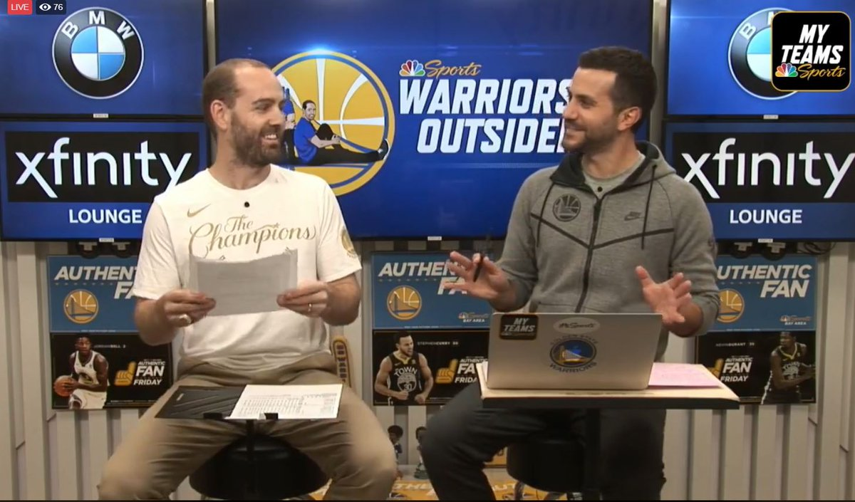 STREAMING NOW: Warriors Outsiders @DrewShiller and @GrantLiffmann break down the thrilling finish in Denver. Join the conversation on Facebook Live! facebook.com/NBCSAuthentic/…