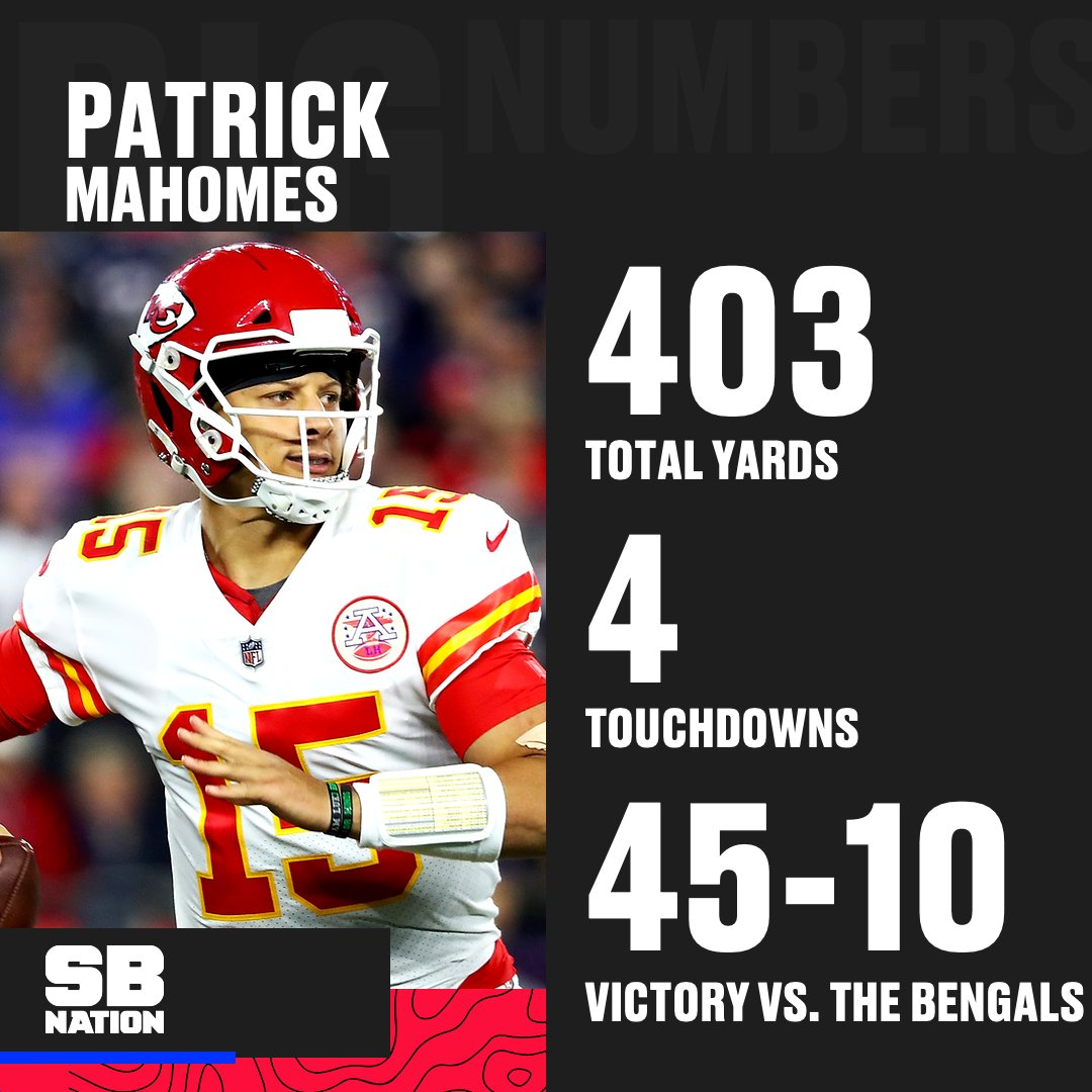 Another unreal performance by Patrick Mahomes