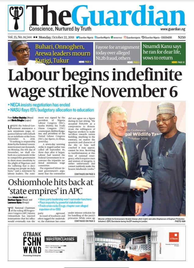 News headline nigeria