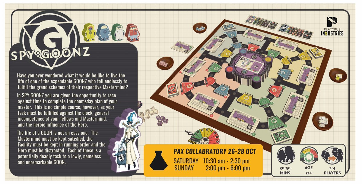 Then Dont You Dare Miss This Opportunity SPYGOONZ Will Be At The PAX Collabratory Over Weekend 26 28 OCT Want To Learn More Come On Down