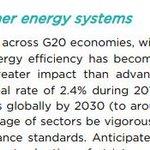 Image for the Tweet beginning: IEA: energiatehokkuus on parantunut G20-maissa.
