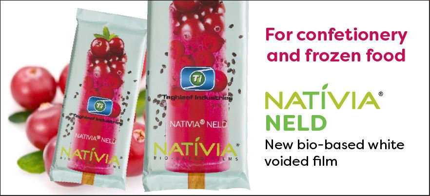 Made from annually renewable raw materials, NATIVIA® NELD is a new #sustainable white voided film for confectionery and frozen food. Read more here: bit.ly/2Ja8twW. #biobasedfilms
