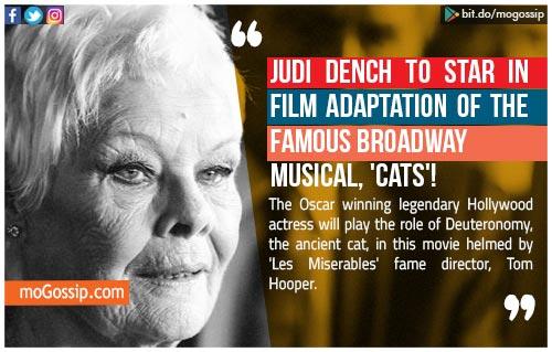test Twitter Media - #JudiDench to star in 'Cats' #movie adaptation ! #hollywood #star #film #gossip #mogossip https://t.co/SaO2X5MLcm