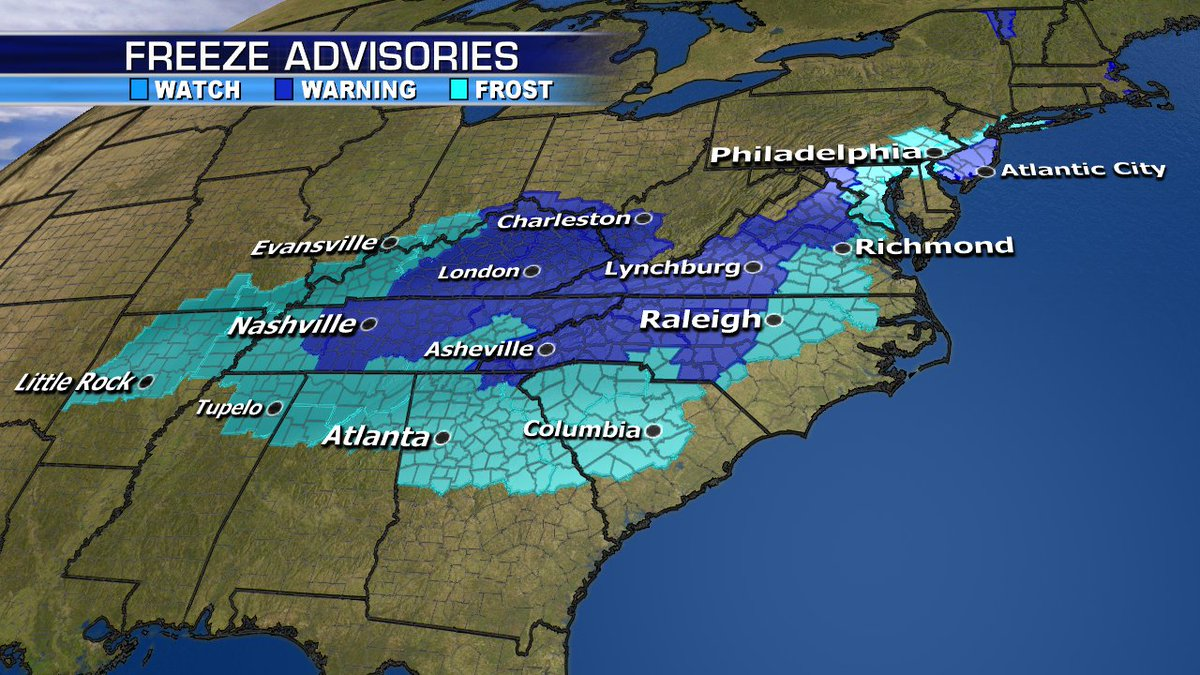 Chilly temperatures for millions this morning.  #Cat4 #HurricaneWilla will crash into Mexico and bring unwanted moisture to Texas.  We're also watching a potential #NorEaster this weekend! Plenty to cover with details coming up @foxandfriends #GoodMorning