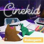Image for the Tweet beginning: #robogami @Cinekid 🦕🐠❤️