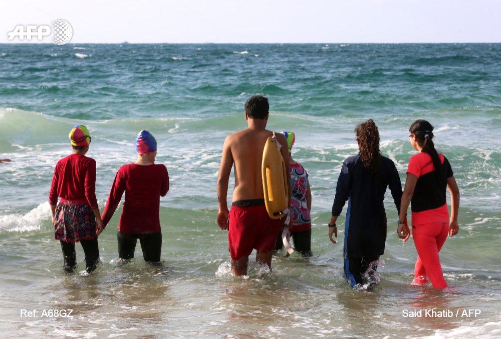 Aguas turbulentas para los nadadores gazatíes #AFP https://t.co/BMyA9fW9VD