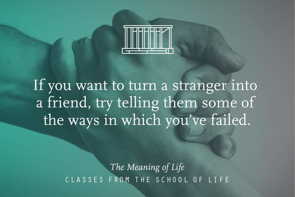 Book our class, The Meaning of Life, for 25 October: https://t.co/yz09QAZWUG