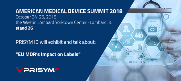 If you are @MedicalDeviceUS this week, please attend our #EUMDR #labeling session from 3:15 pm or come by our stand - 26 to discuss your labeling challenges.  PRISYM ID is a Thought Leadership partner.   https://tinyurl.com/y7t4vlvw