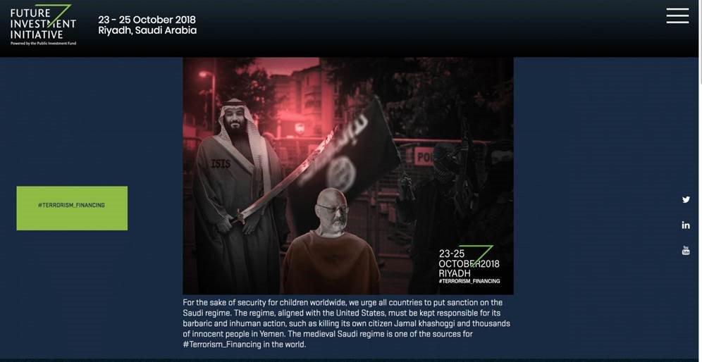 "Saudi's ""Davos in the Desert"" website: hacked."