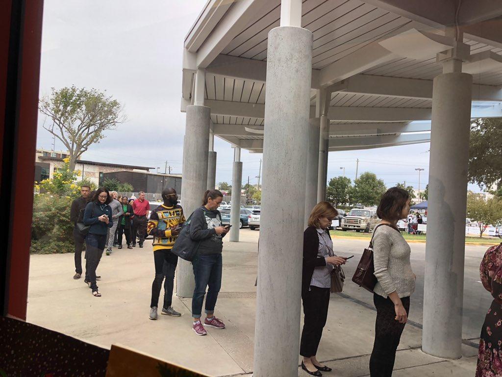 Early voting happening now. West Gray voting station @HoustonTX @SteveKornacki