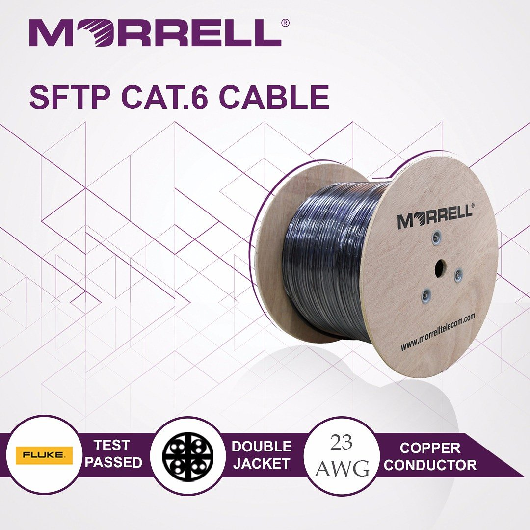 CAT6A 750MHz Outdoor Direct Burial Solid Copper Shielded LSZH HDPE 23AWG 100/' Ft