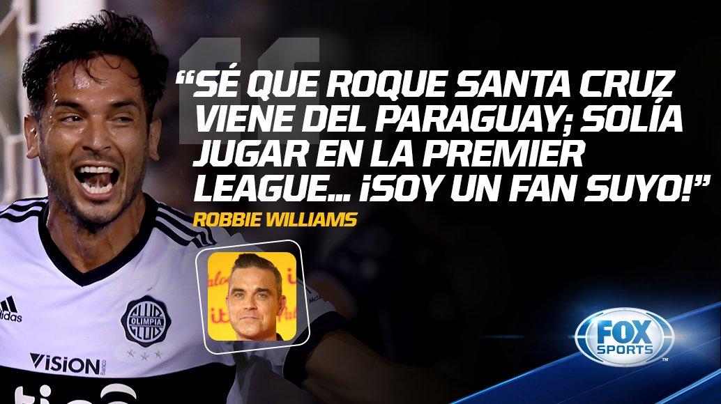 ¡QUÉ CONFESIÓN! #CentralFOX | Robbie Williams, fan declarado del paraguayo Roque Santa Cruz.