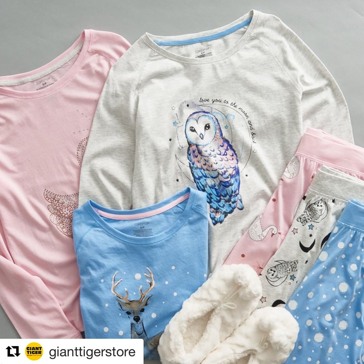 e2ddb6f60df03f #GiantTiger #ForYouForLess #Carisma #PJs #PJparty #bedtime #Pyjamas  #comfycozy #supersoft #pjset #printedpjs #comfypjspic.twitter.com/16KD9aCC0j