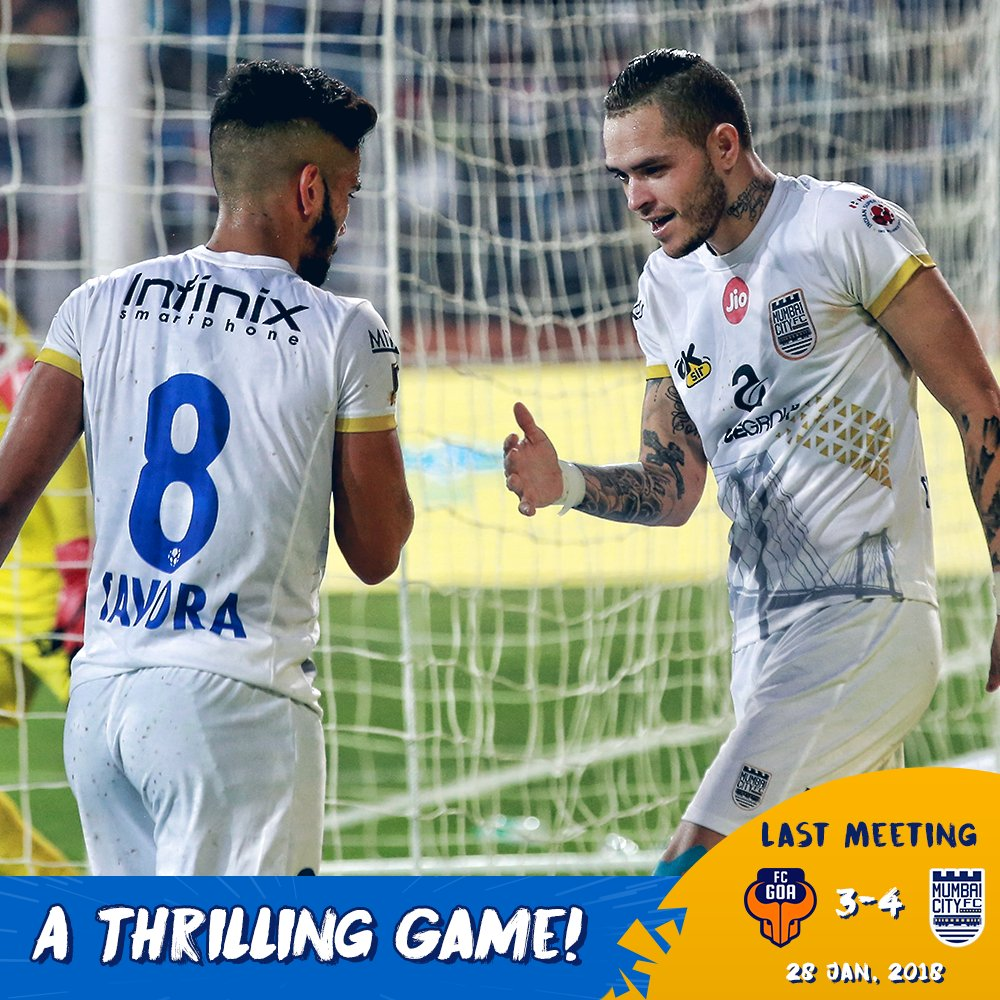 Goals. Drama. Magic! The last time we were away against @FCGoaOfficial, #TheIslanders came out on top in a 7-goal thriller! 🔵 An encore on Wednesday, please! #GOAMUM #ApunKaTeam