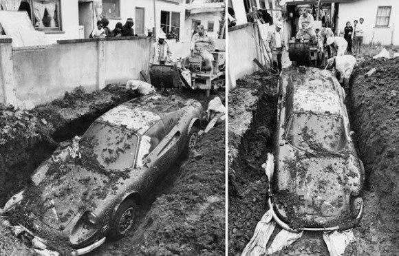 カラパイア : 裏庭に埋められた1974年製フェラーリ・ディーノ246GTSの謎(アメリカ) https://t.co/6ubLOvTJQ4