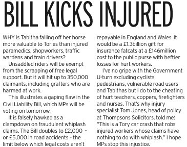How the Government's using whiplash to cheat injured workers. From today's @DailyMirror column