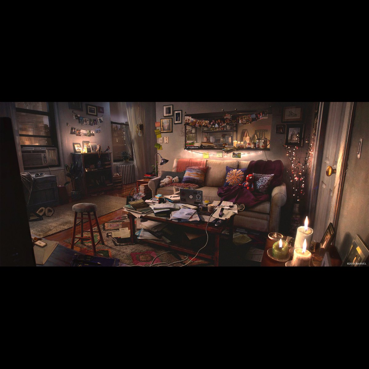 Dennis Chan On Twitter Mj S Apartment Concept For Spider Man Ps4 Art Direction By Jacinda Chew Spiderman Spidermanps4 Insomniac Marvel