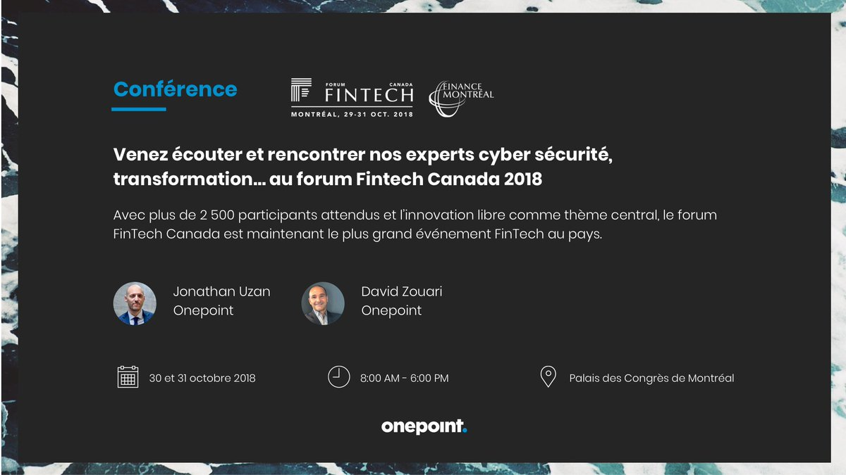 Onepoint On Twitter Nos Experts Cybersecurite Interviendront Lors