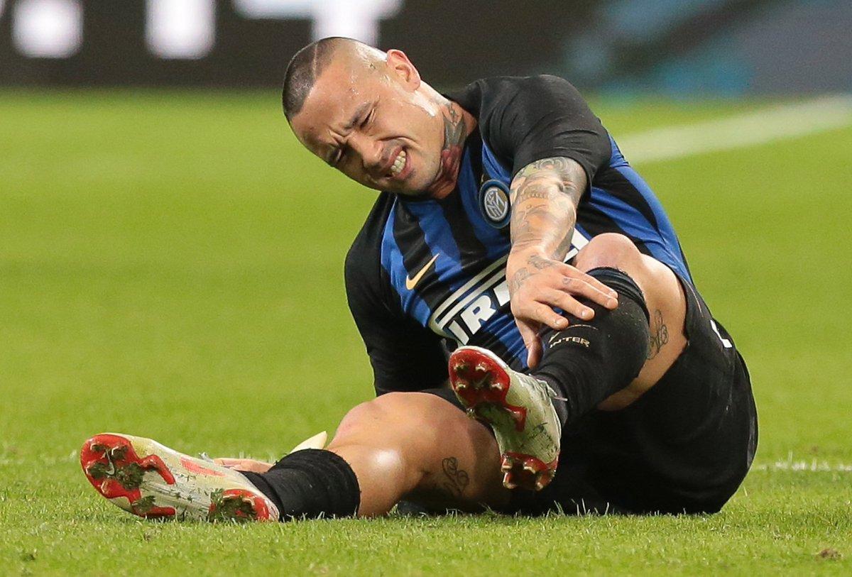 Tegola in casa @Inter: si ferma @OfficialRadja, che salterà la #UCL ⛔️  Trauma distorsivo della caviglia sinistra per il centrocampista 🚑
