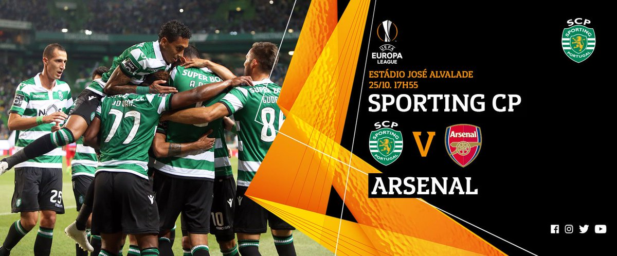 ⚽ vs @Arsenal 🏆 @EuropaLeague 📍 Estádio José Alvalade 🗓 Quinta-Feira 🕗 17h55