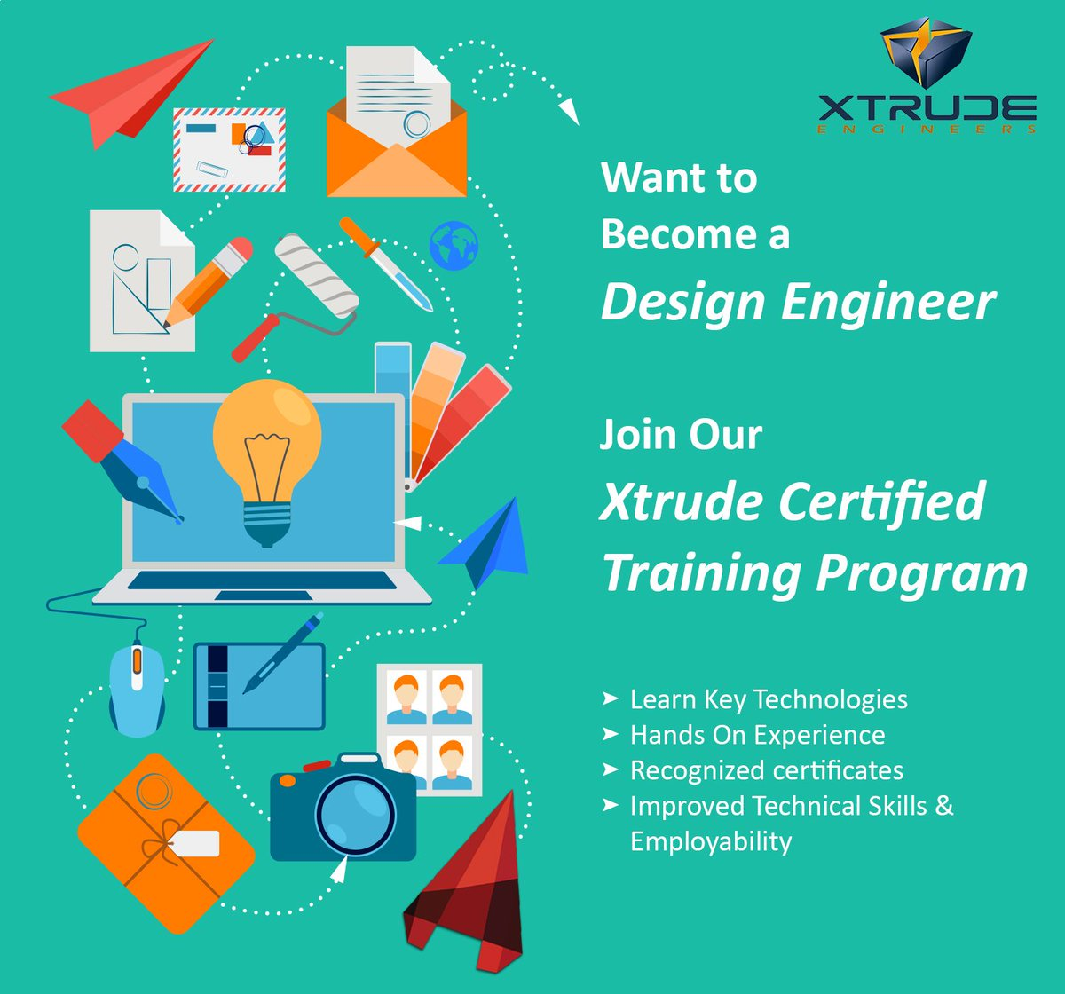 Xtrude Engineers On Twitter Want To Become A Certified Design Engineer Join Xtrude Certified Training Program And Become A Design Engineer Https T Co Wswtht3lzg Training Institute Cad Cam Cad Cam Training Https T Co Talvvfkzyb