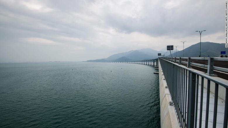 The world's longest sea-crossing bridge is opening this week. It connects Hong Kong and Macau to mainland China https://t.co/4YppDVce5e