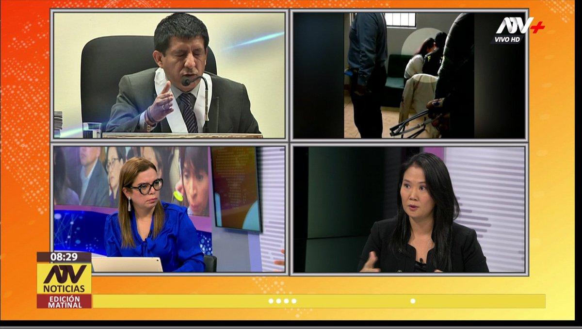 """[#ENVIVO] @KeikoFujimori: """"Estoy segura de que el juez Carhuancho no ha sido justo"""" 📺 #ATVNoticiasMatinal ►http://goo.gl/OSol2M"""
