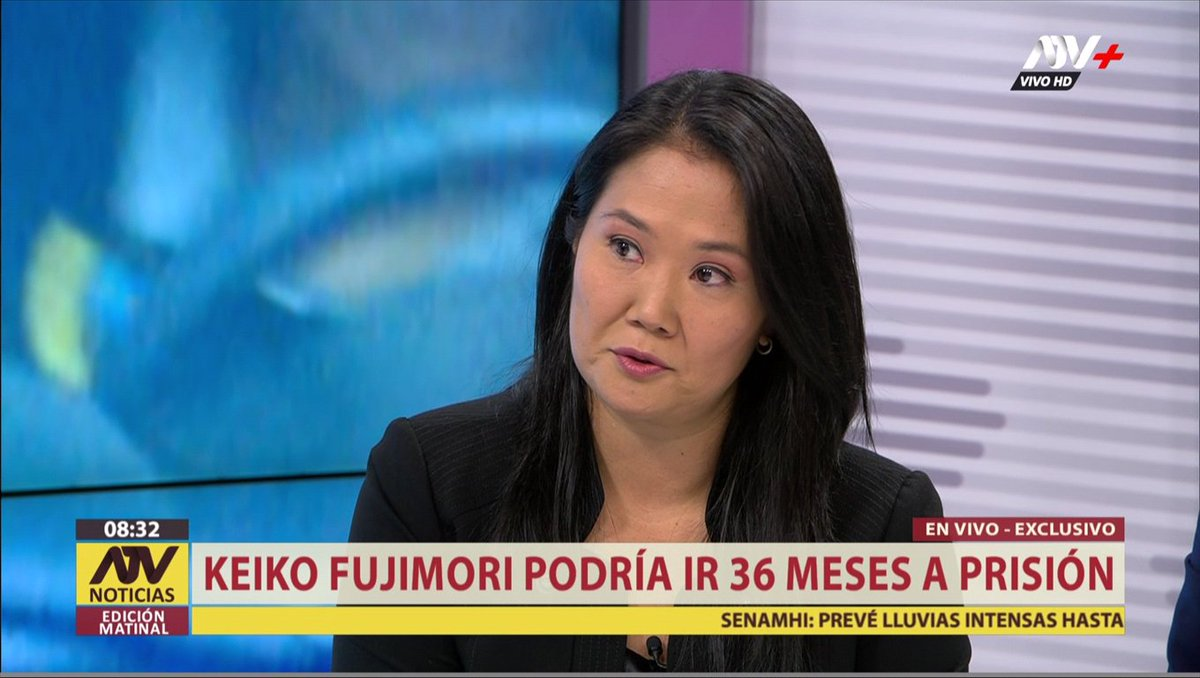 "[#ENVIVO] @KeikoFujimori: ""No pongo las manos al fuego por nadie, ni por Yoshiyama ni por Bedoya"" 📺 #ATVNoticiasMatinal ►http://goo.gl/OSol2M"