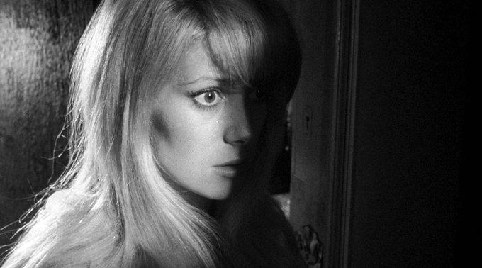 Wishing Catherine Deneuve a very happy 75th birthday! Seen here in Repulsion (1965).
