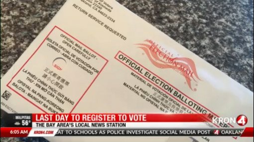 Today is the last day to register to vote in California https://t.co/emgUnWzLfY