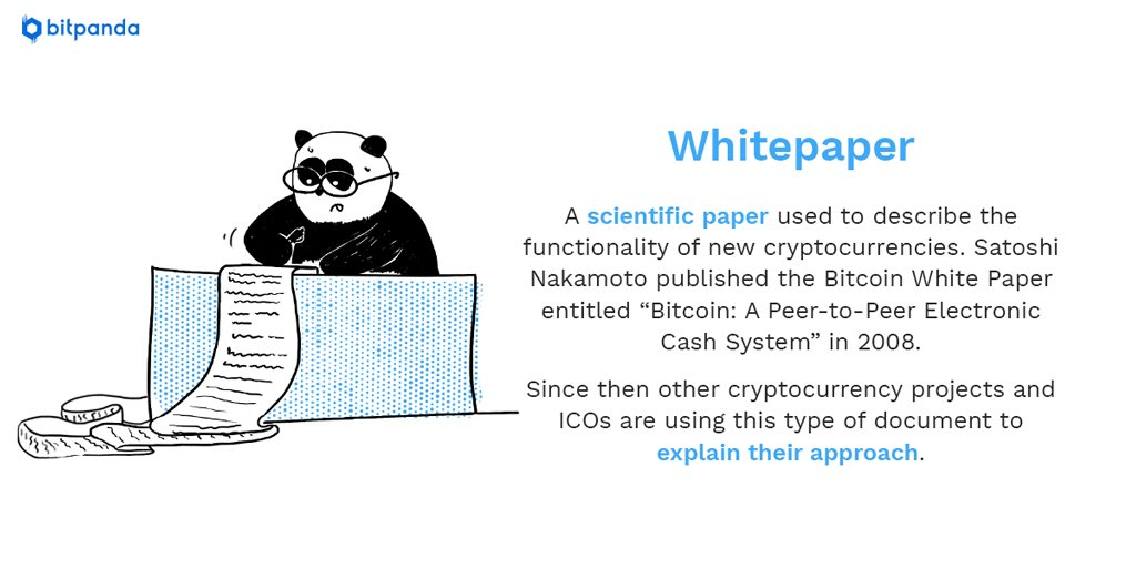 W is for White Paper! The way in which cryptocurrencies are explained and the problems they aim to solve. In our ongoing series you will learn the most important terms about Bitcoin and Blockchain #bitpanda #blockchain