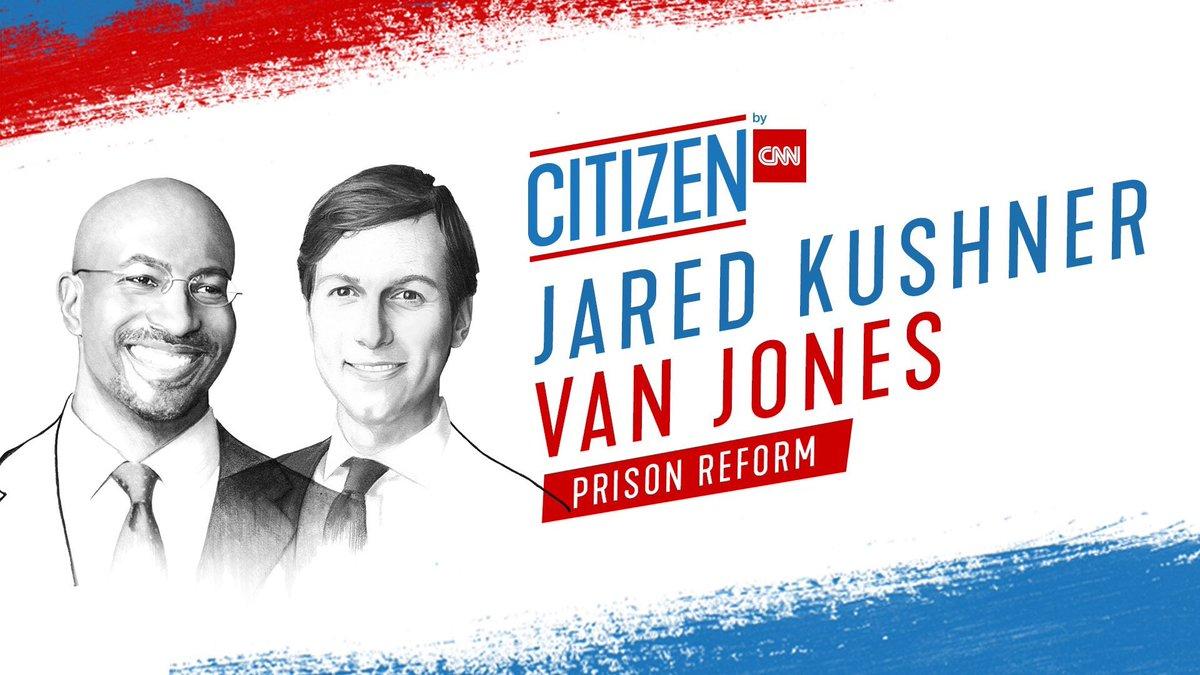 Watch the full #CITIZENCNN programming today at https://t.co/sKmulsFR6h starting at 10AM ET  when CNN's @VanJones68 will discuss prison reform with senior White House adviser Jared Kushner https://t.co/rkGZYjMQEE