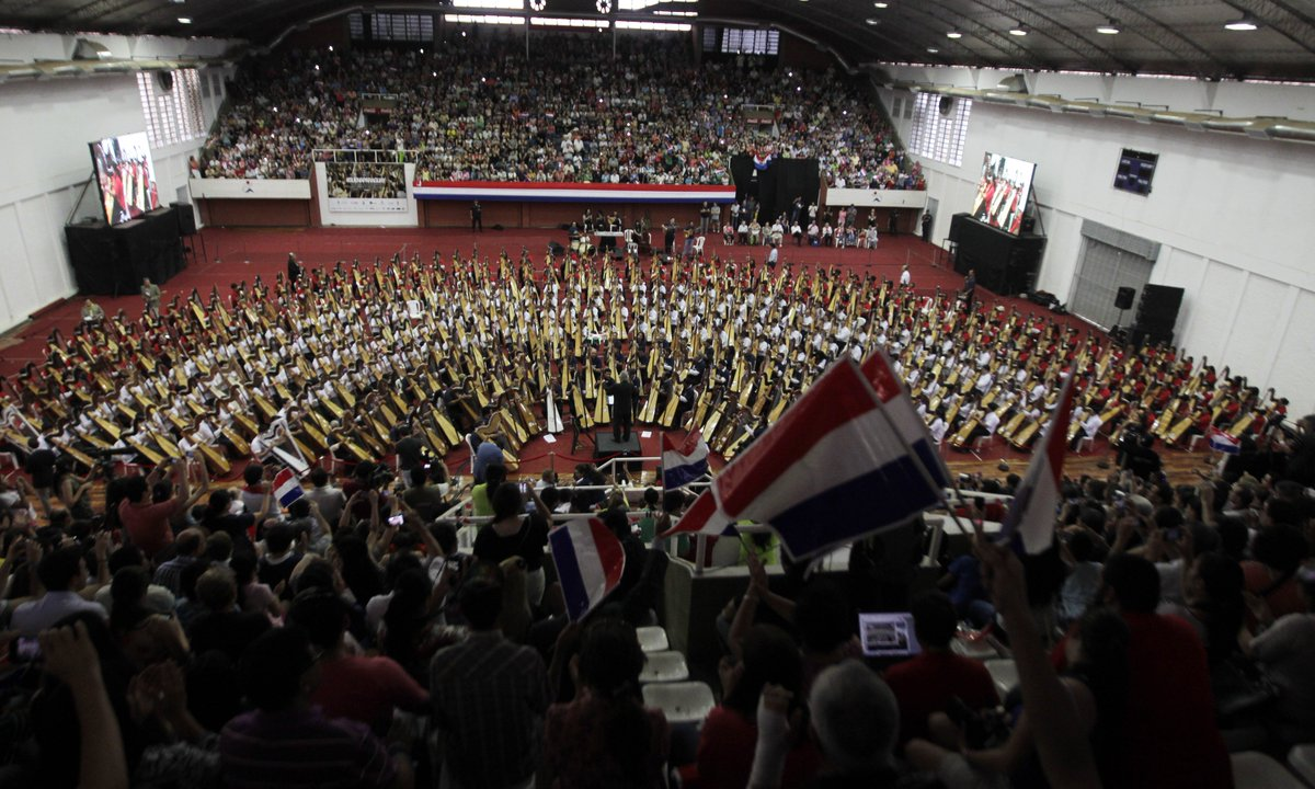.@Reuters Today in History: 2013 - World record for largest harp ensemble set in Paraguay #ReutersArchive