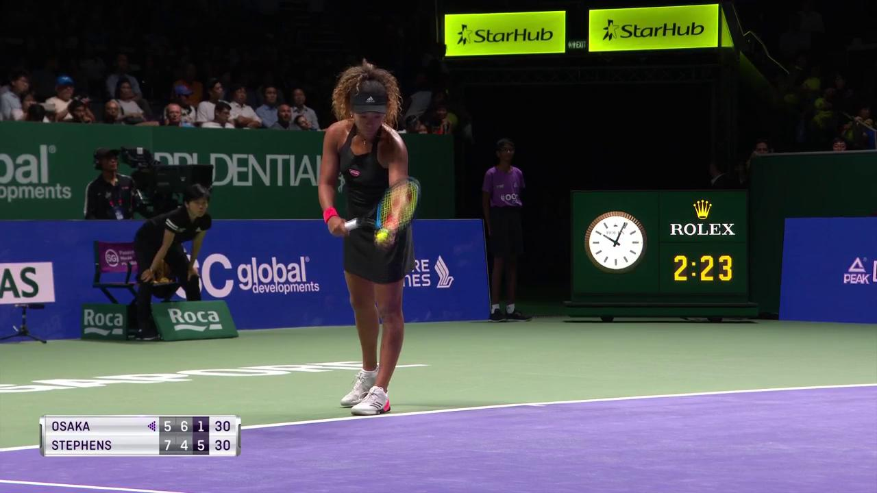 Outrageous play from @SloaneStephens! ���� #WTAFinals https://t.co/WRwLo0nUFA